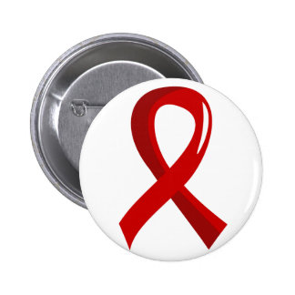 Blood Cancer Red Ribbon 3 Pins