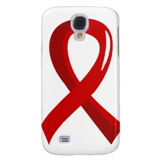 Blood Cancer Red Ribbon 3 Galaxy S4 Covers