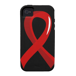 Blood Cancer Red Ribbon 3 iPhone 4/4S Covers