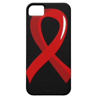 Blood Cancer Red Ribbon 3 iPhone 5 Case
