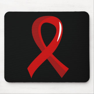 Blood Cancer Red Ribbon 3 Mousepads