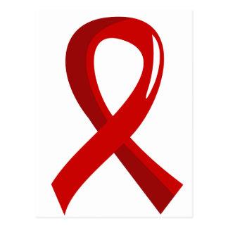 Blood Cancer Red Ribbon 3 Postcard