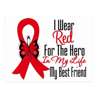 Blood Cancer Ribbon Hero in My Life My Best Friend Postcard