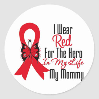 Blood Cancer Ribbon Hero in My Life My Mommy Stickers