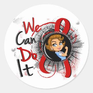 Blood Cancer Rosie Cartoon WCDI Round Sticker