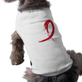 Blood Cancer s Red Ribbon A4 Dog Tshirt