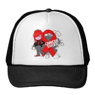 Blood Cancer Sucks Ribbon Trucker Hat