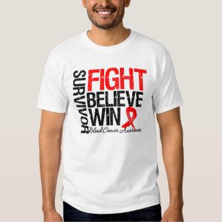 Blood Cancer Survivor Fight Believe Win Motto Shirts