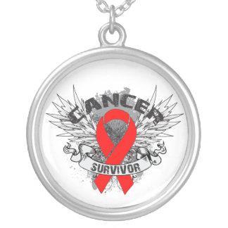 Blood Cancer Survivor Grunge Winged Pendant