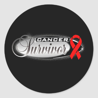 Blood Cancer Survivor Round Stickers