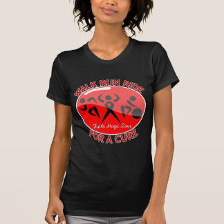 Blood Cancer Walk Run Ride For A Cure T Shirts
