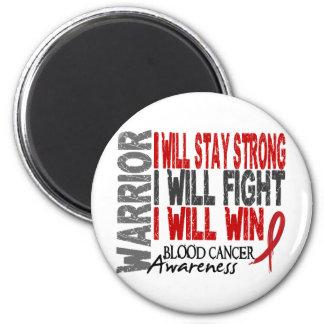 Blood Cancer Warrior 6 Cm Round Magnet