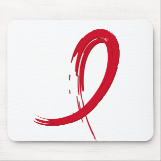 Blood Cancer's Red Ribbon A4 Mouse Pad