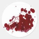 Blood Classic Round Sticker