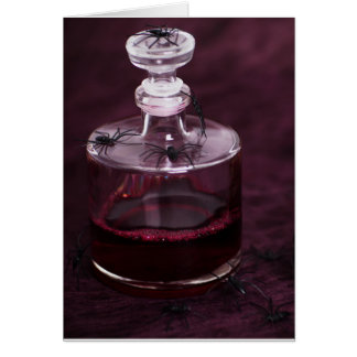Blood Decanter Greeting Card