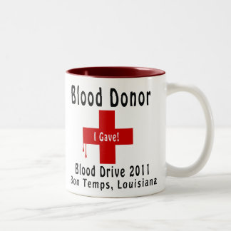 blood donor 2011 W-drops Two-Tone Mug