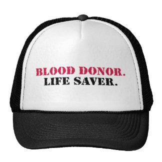 Blood Donor. Life Saver. Cap
