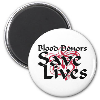 Blood donors save lives 6 cm round magnet