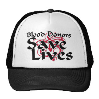 Blood donors save lives cap