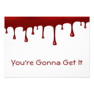 Blood Drip Set Custom Invitations