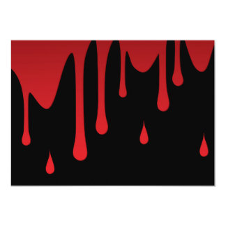 Blood dripping 13 cm x 18 cm invitation card