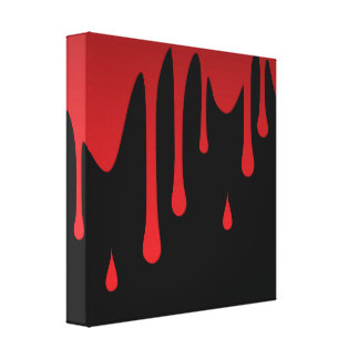 Blood dripping gallery wrapped canvas