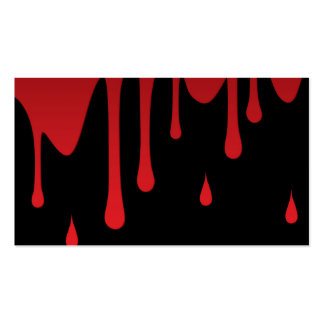 Blood dripping pack of standard business cards