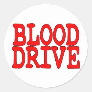 Blood Drive Round Stickers