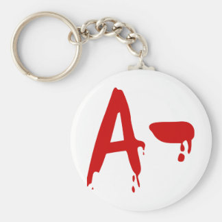 Blood Group A- Negative #Horror Hospital Basic Round Button Key Ring
