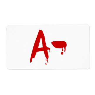 Blood Group A- Negative #Horror Hospital Shipping Label