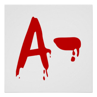 Blood Group A- Negative #Horror Hospital Posters