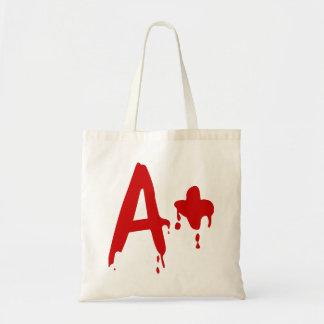 Blood Group A+ Positive #Horror Hospital Budget Tote Bag