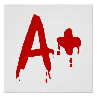 Blood Group A+ Positive #Horror Hospital Posters