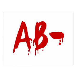 Blood Group AB- Negative #Horror Hospital Postcard