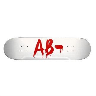 Blood Group AB- Negative Horror Hospital Skate Board