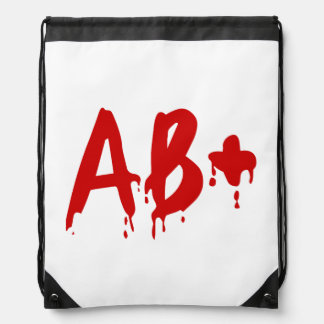 Blood Group AB+ Positive #Horror Hospital Drawstring Backpack