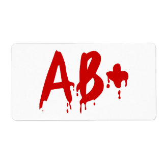 Blood Group AB+ Positive #Horror Hospital Shipping Label
