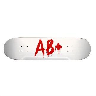 Blood Group AB+ Positive Horror Hospital Skate Deck