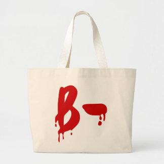 Blood Group B- Negative #Horror Hospital Jumbo Tote Bag