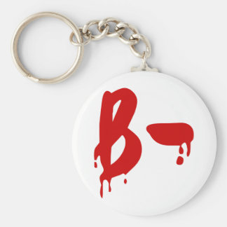 Blood Group B- Negative #Horror Hospital Key Ring