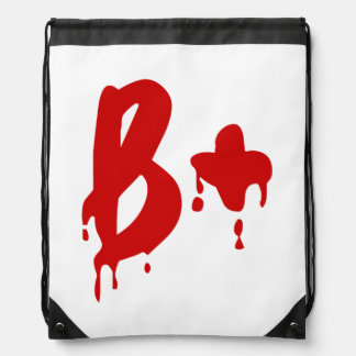 Blood Group B+ Positive Horror Hospital Drawstring Backpacks