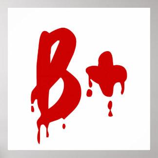 Blood Group B+ Positive #Horror Hospital Print