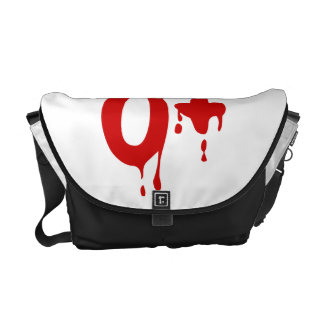 Blood Group O+ Positive #Horror Hospital Courier Bags