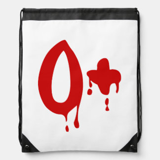 Blood Group O+ Positive #Horror Hospital Cinch Bags