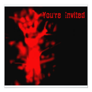 "Blood Halloween Party Invitation 5.25"" Square Invitation Card"