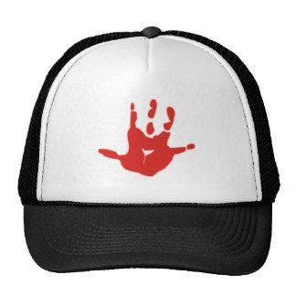 Blood hand casting blood hand Mark Mesh Hats