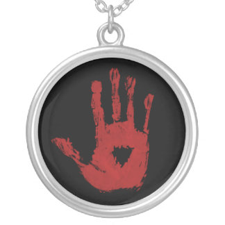 Blood Hand Necklace