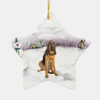 Blood Hound Christmas ornament