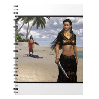 Blood In The Sand Spiral Note Book