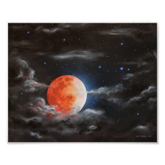 Blood Moon Art Photo